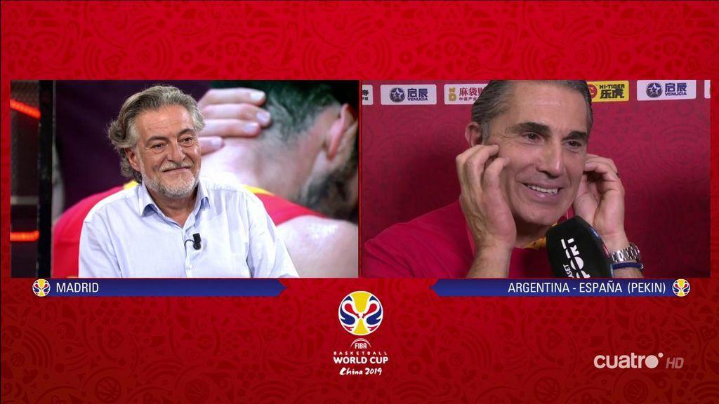 """Pepu Hernández y Sergio Scariolo, el reparto de elogios de los dos campeones del mundo: """"Abriste una puerta y ahí nos hemos colado"""""""