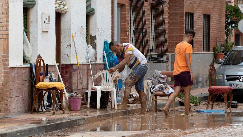 Ciudadanos afectados por la DANA