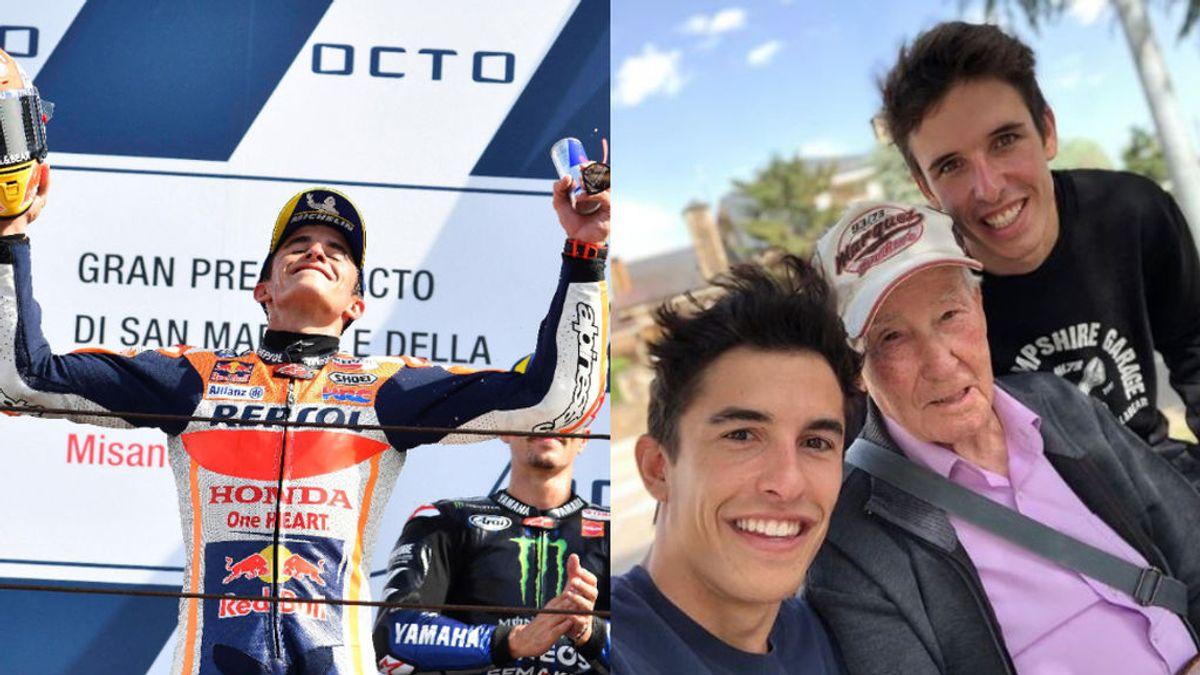 La rutina de los lunes de los Márquez tras disputar cada Gran Premio: comentarlo con su abuelo