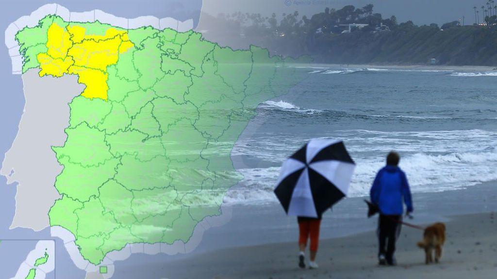 Avisos amarillos: las tormentas avanzan hacia Galicia y Asturias