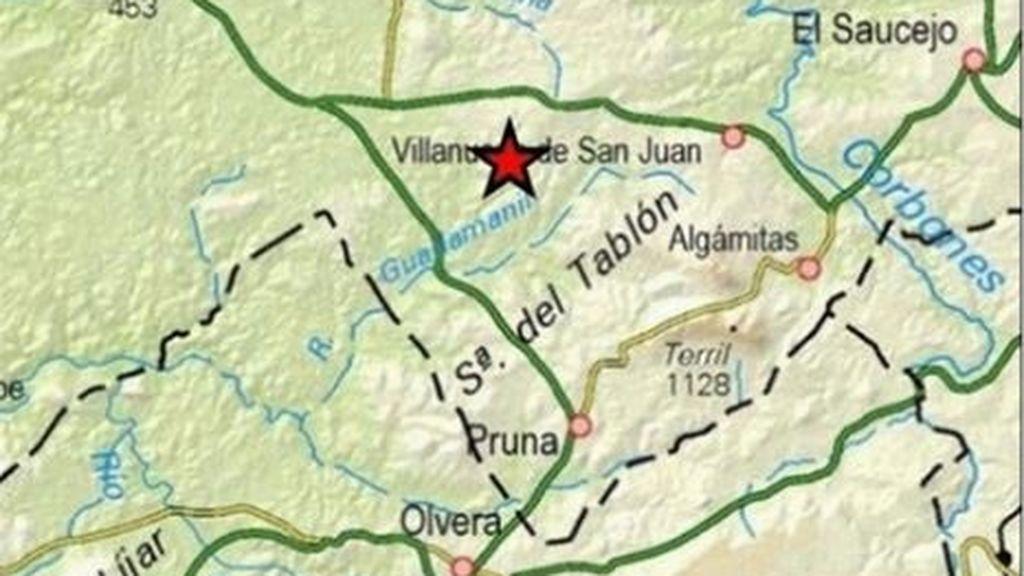 Un terremoto de magnitud 3,9 hace temblar a la provincia de Sevilla