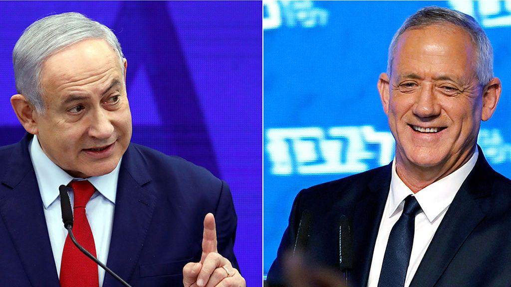 Elecciones en Israel: ajustada batalla entre Netanyahu y Gantz