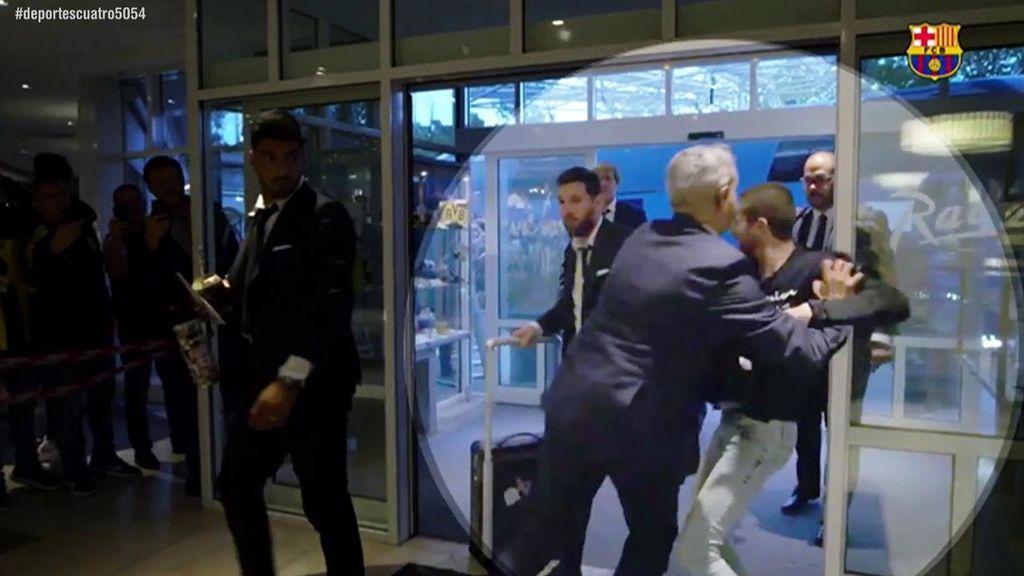 Locura en el recibimiento a Messi