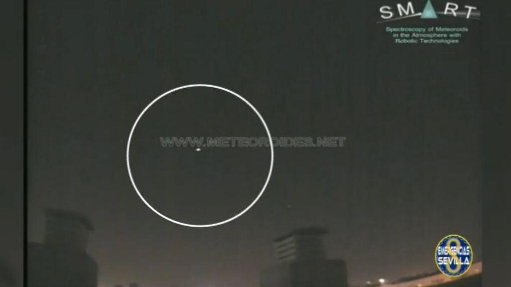 La roca de un asteroide provoca una gran bola de fuego visible desde varios puntos de Sevilla