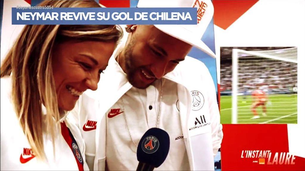 """Neymar se emociona al revivir su gol de chilena: """"Fue para la madre de mi hijo y su marido"""""""