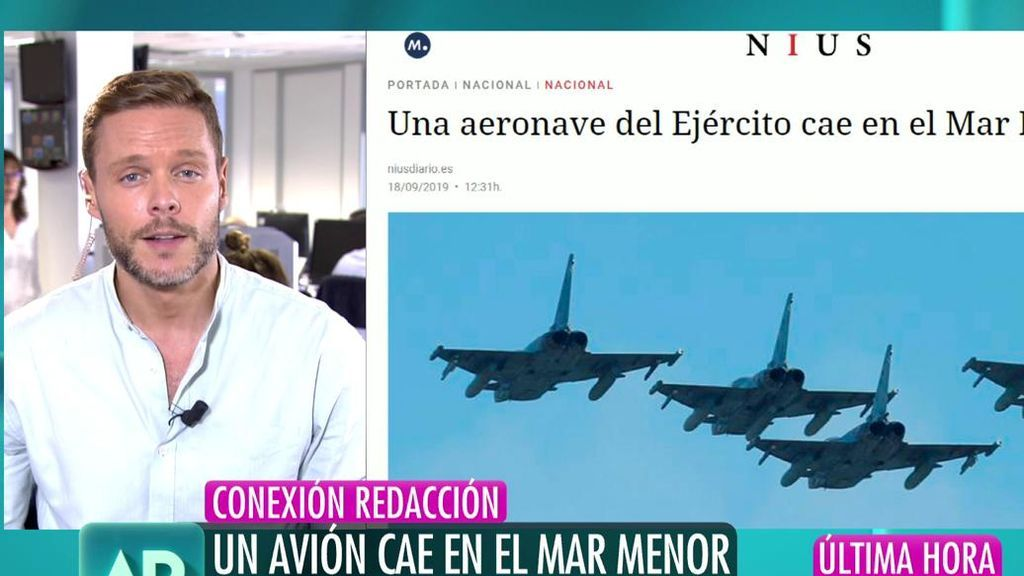 Última hora: una aeronave del Ejército cae en el Mar Menor