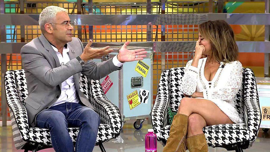 Jorge Javier Vázquez y María Patiño liman esperezas en directo en 'Sálvame'