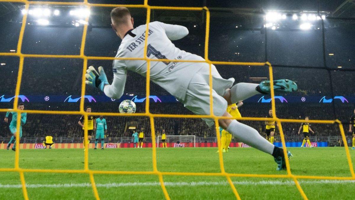 Ter Stegen salva a un Barça dormido en Dortmund