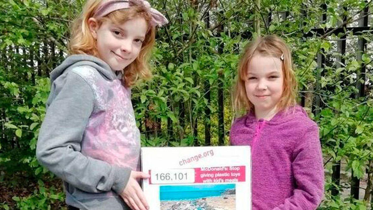 Dos niñas logran que Burger King Y Mc Donald's eliminen los juguetes de plástico de sus menús infantiles