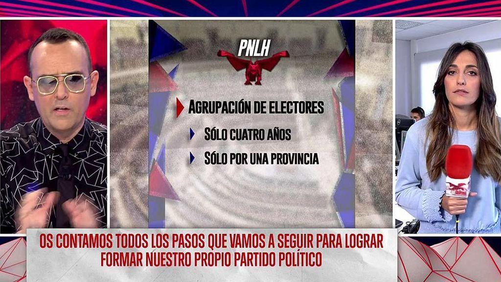 El primer reto del PNLH: 50.000 firmas que apoyen el partido político de 'Todo es mentira'
