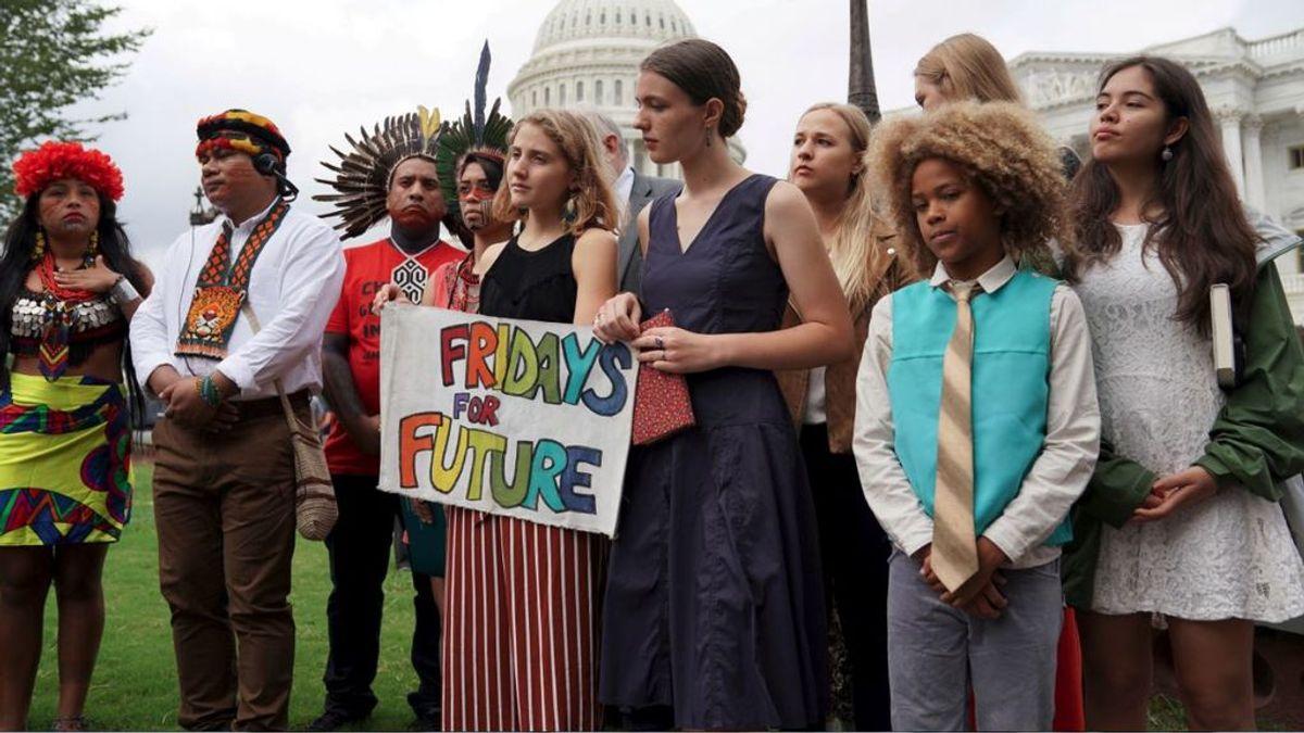 """""""Quedada"""" internacional de jóvenes para salvar el planeta en Nueva York"""