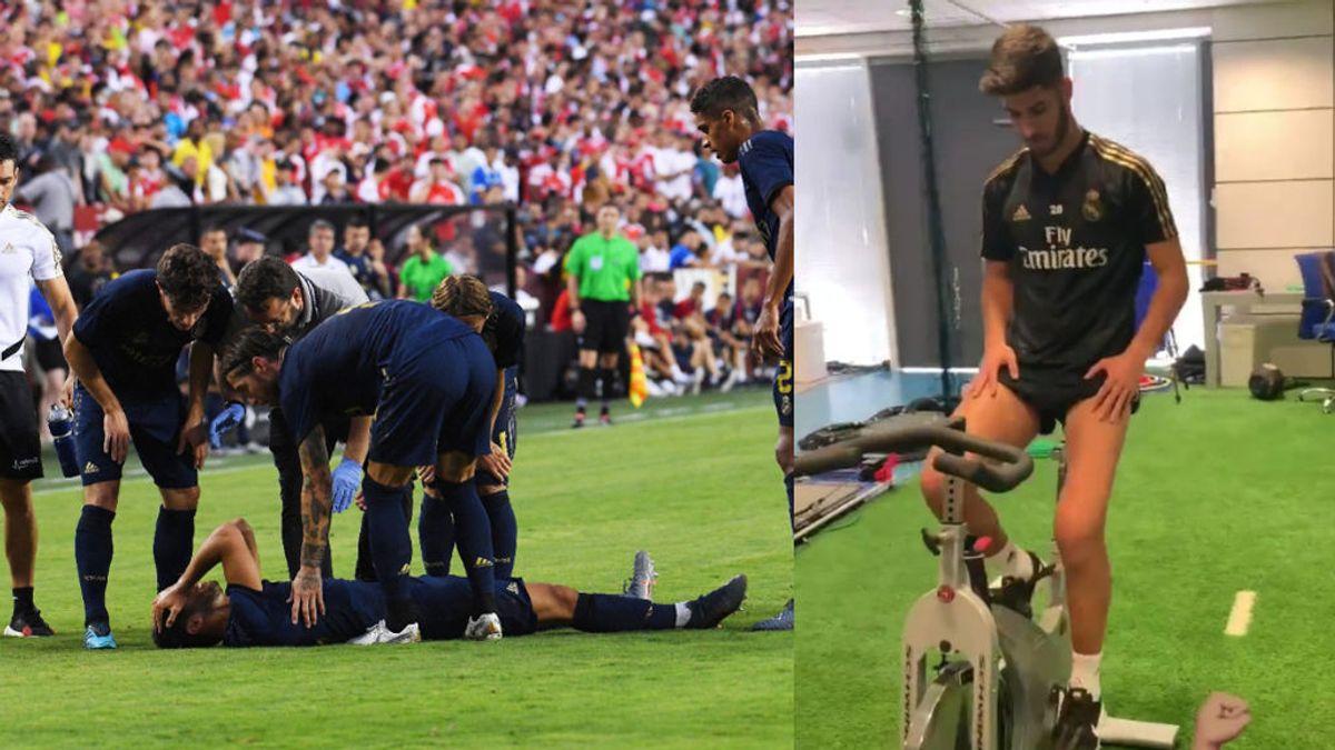 La pierna de Marco Asensio, irreconocible tras su lesión de rodilla