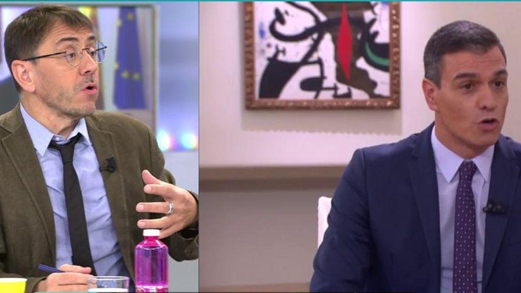 Pablo Iglesias decepcionado con Pedro Sánchez