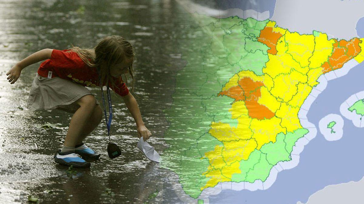 Las tormentas se refuerzan el sábado: aviso naranja y posible granizo para despedir el verano