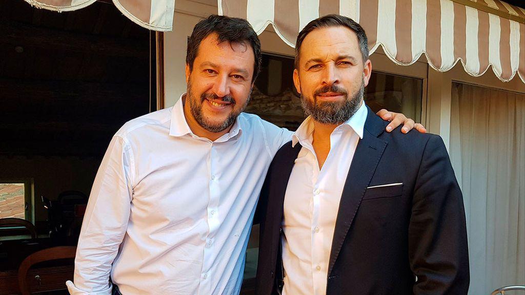 Salvini y Abascal se retratan juntos