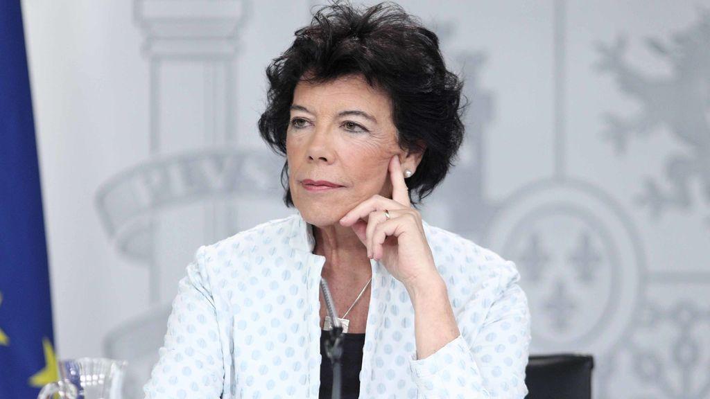 Isabel Celáa, ministra portavoz del Gobierno