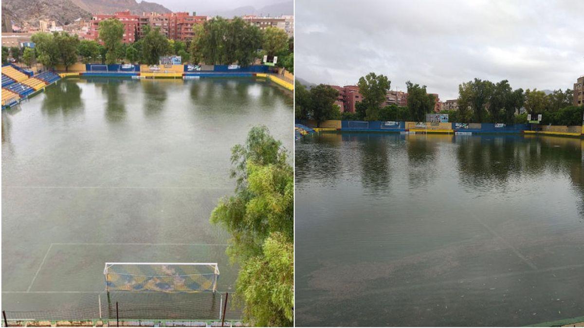 El Estadio del Orihuela podría cerrar toda la temporada por los daños causados por la gota fría