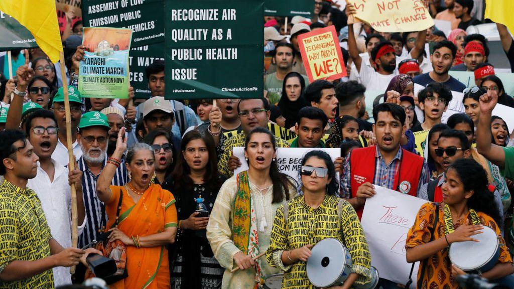 Pakistán también se vuelca con las manifestaciones del cambio climático