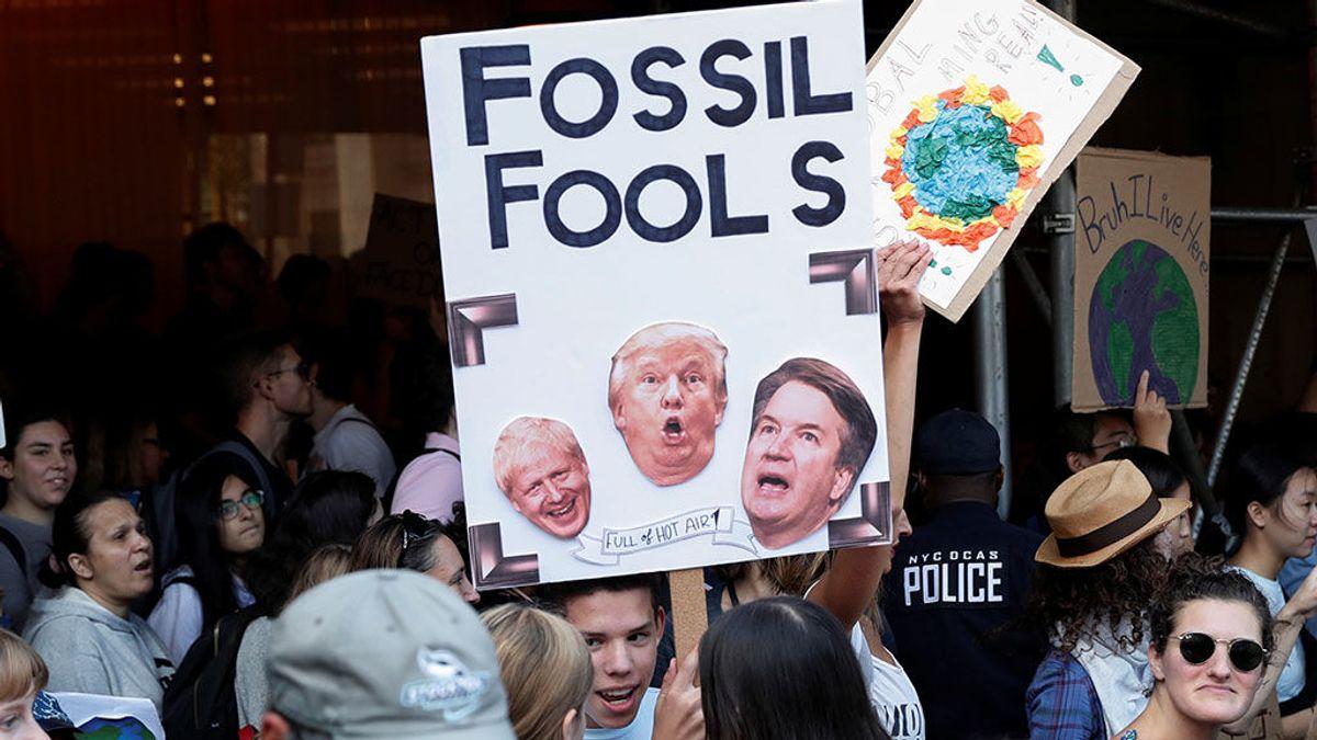 Cientos de miles de jóvenes se manifiestan por todo el mundo en contra del cambio climático