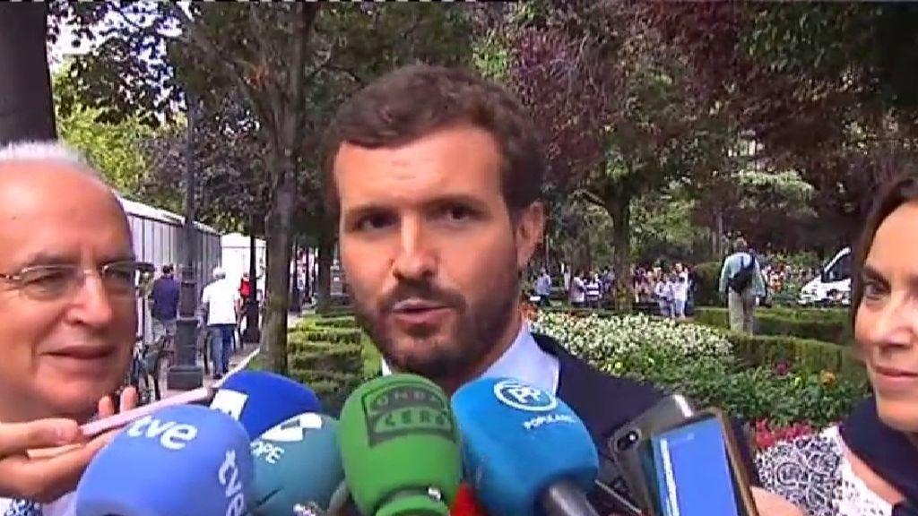 """Casado acusa al Gobierno de """"comprar voluntades electorales"""" con el dinero a las CCAA"""