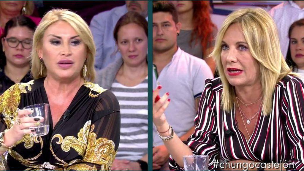 Cruce de 'pullas' entre Raquel Mosquera y Belén Ro por Rocío Carrasco