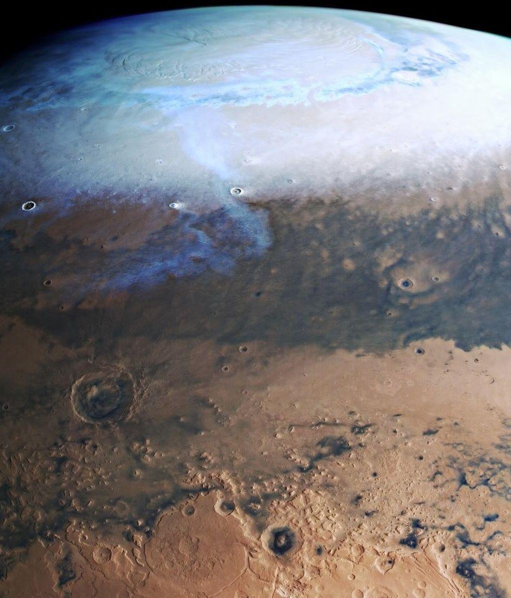 El planeta rojo, al detalle: publican una espectacular imagen de Marte en alta resolución