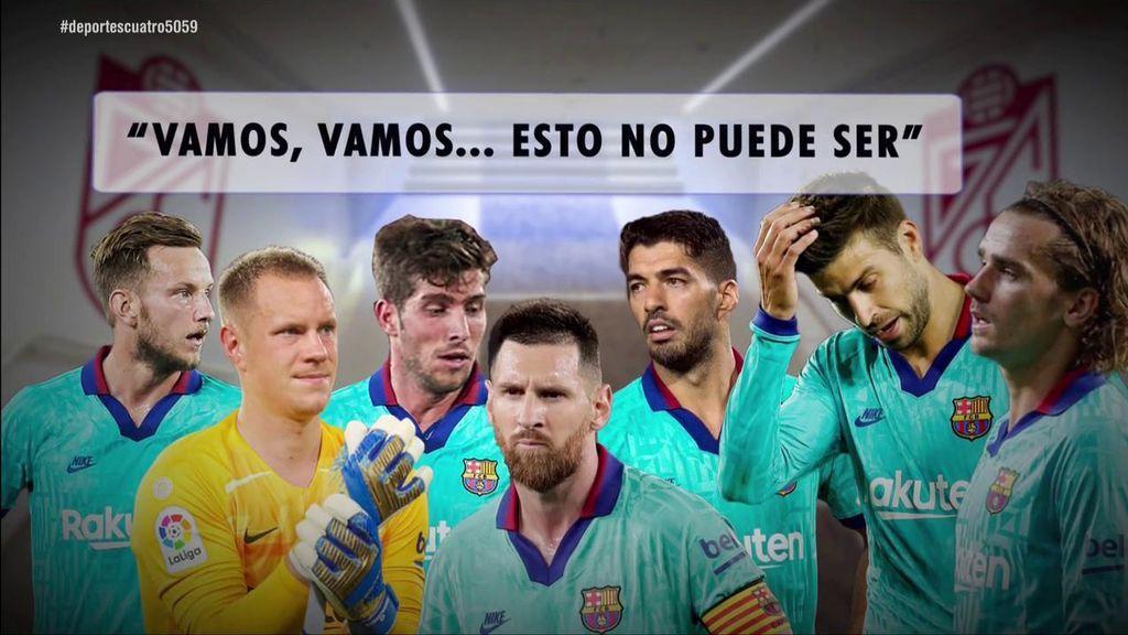 """La bronca de Messi en el vestuario tras la derrota ante el Granada: """"Hay que salir más concentrados"""""""