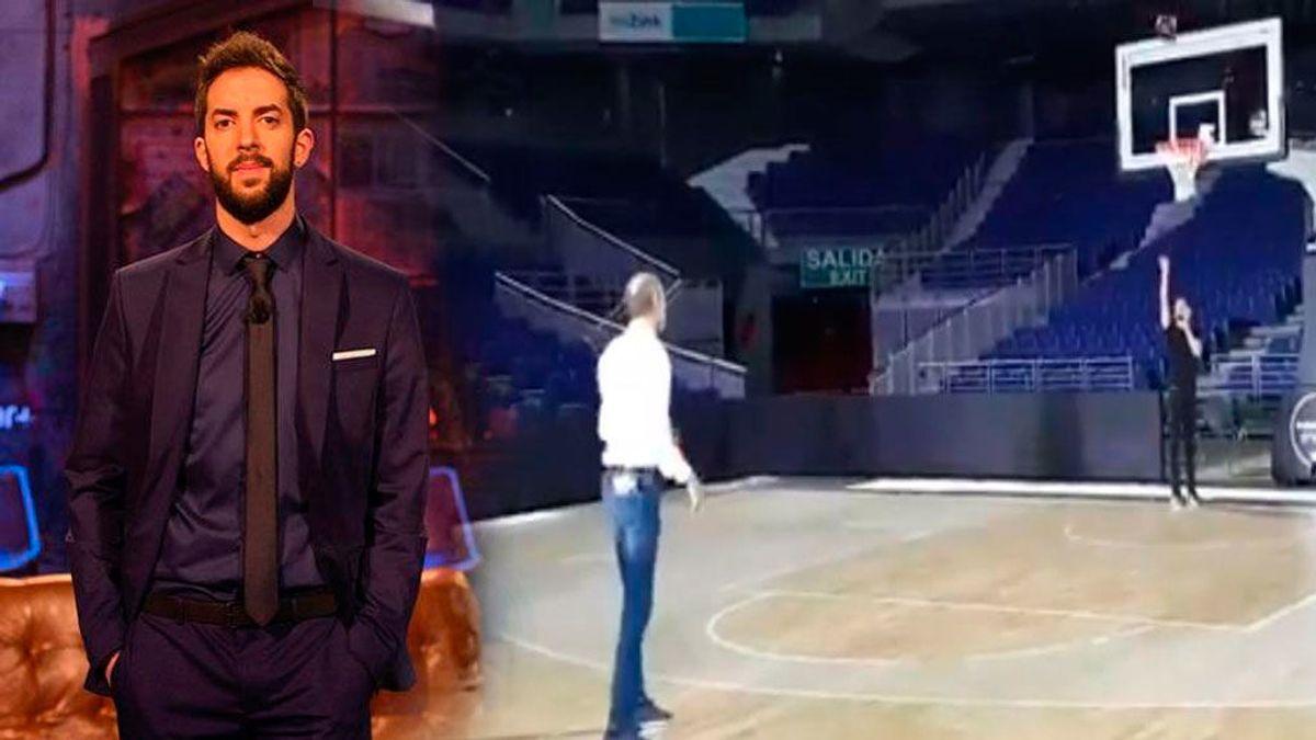 """La canasta de David Broncano en la presentación de la Liga Endesa: """"Parece que no interesa que se sepa"""""""