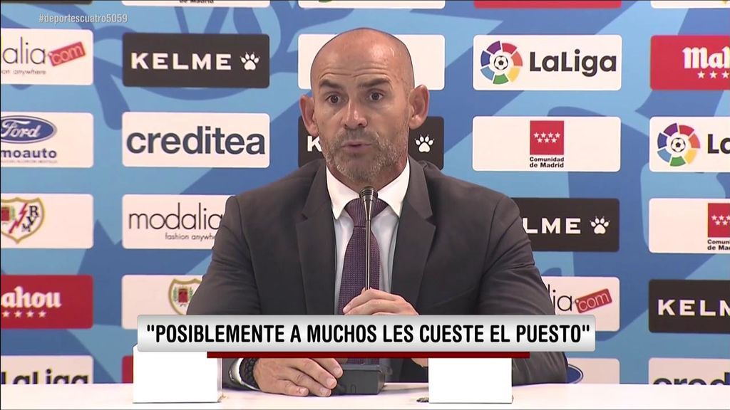 """El enfado de Paco Jémez tras el empate del Rayo: """"Ninguno ha tenido los huevos de jugar al fútbol"""""""