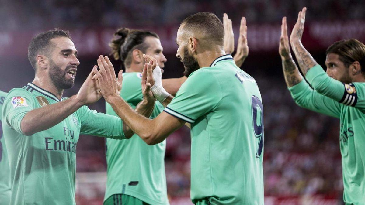El Real Madrid se pone colíder gracias a un gol de Benzema ante el Sevilla (0-1)