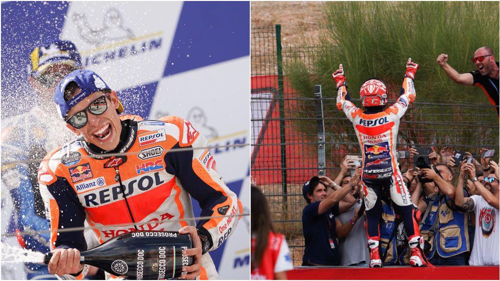 Victoria y espectáculo el de Marc Márquez en el Gran Premio de Aragón