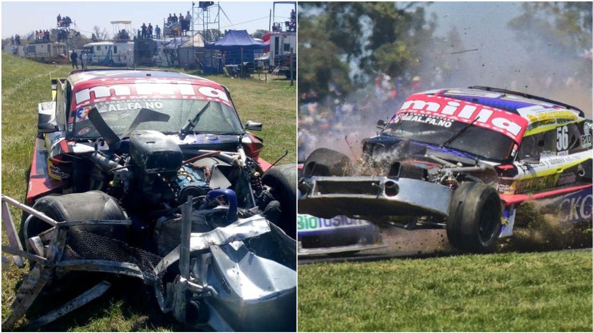 Fracturas en ambas clavículas y traumatismos varios: este ha sido el resultado del impactante accidente de Germán Todino