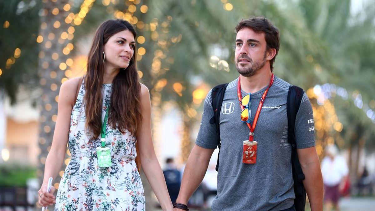 """Linda Morselli, novia de Fernando Alonso, aclara si está embarazada: """"No he bebido cerveza"""""""