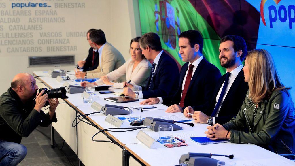 Comparecencia en directo de Pablo Casado después de la reunión con los barones del PP