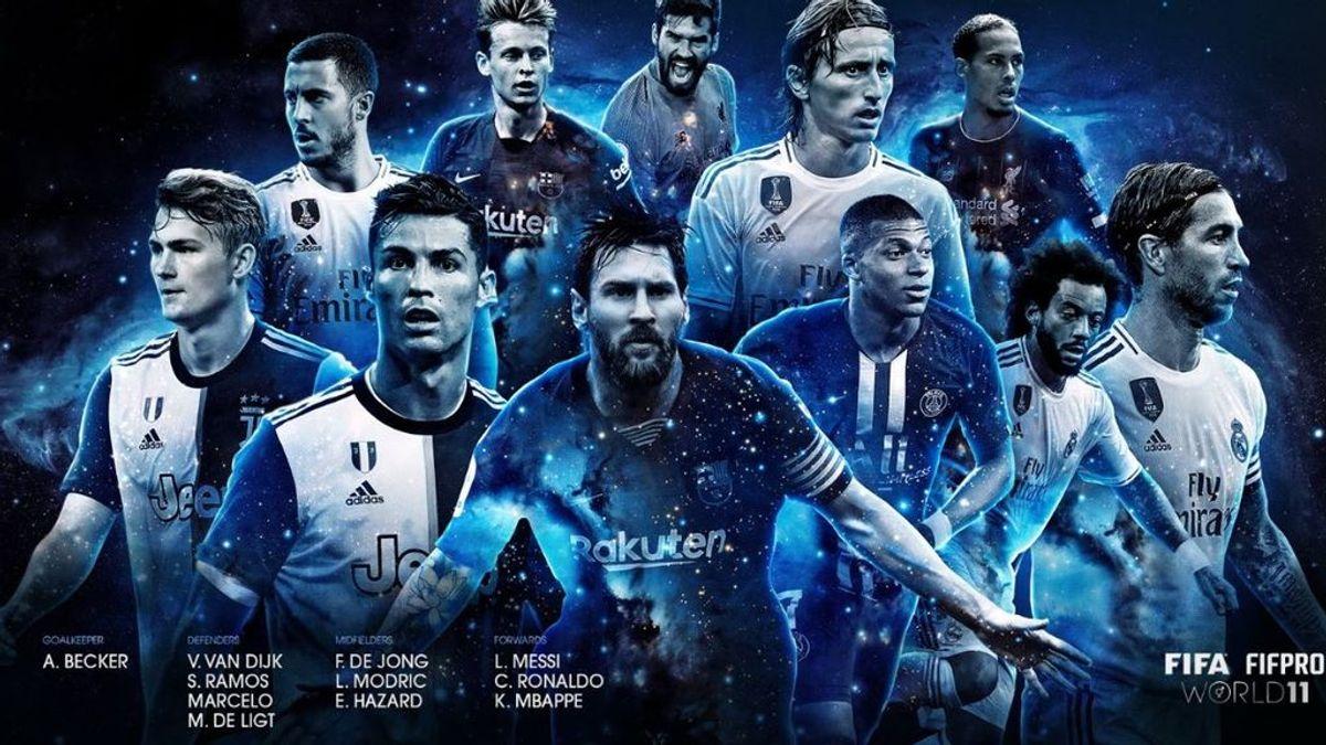 Messi, Hazard, Ramos, Modric, De Jong y Marcelo, dentro del once ideal del 'The Best'
