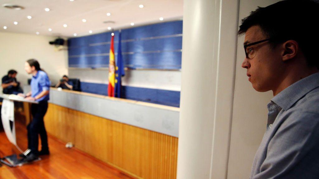"""Pablo Iglesias: """"Es legítimo y previsible  que Íñigo Errejón se presente a las elecciones"""""""