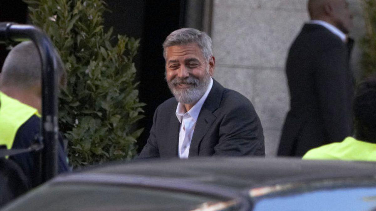 Geaorge Clooney colapsa el centro de Madrid por la grabación de un anuncio  en plena calle