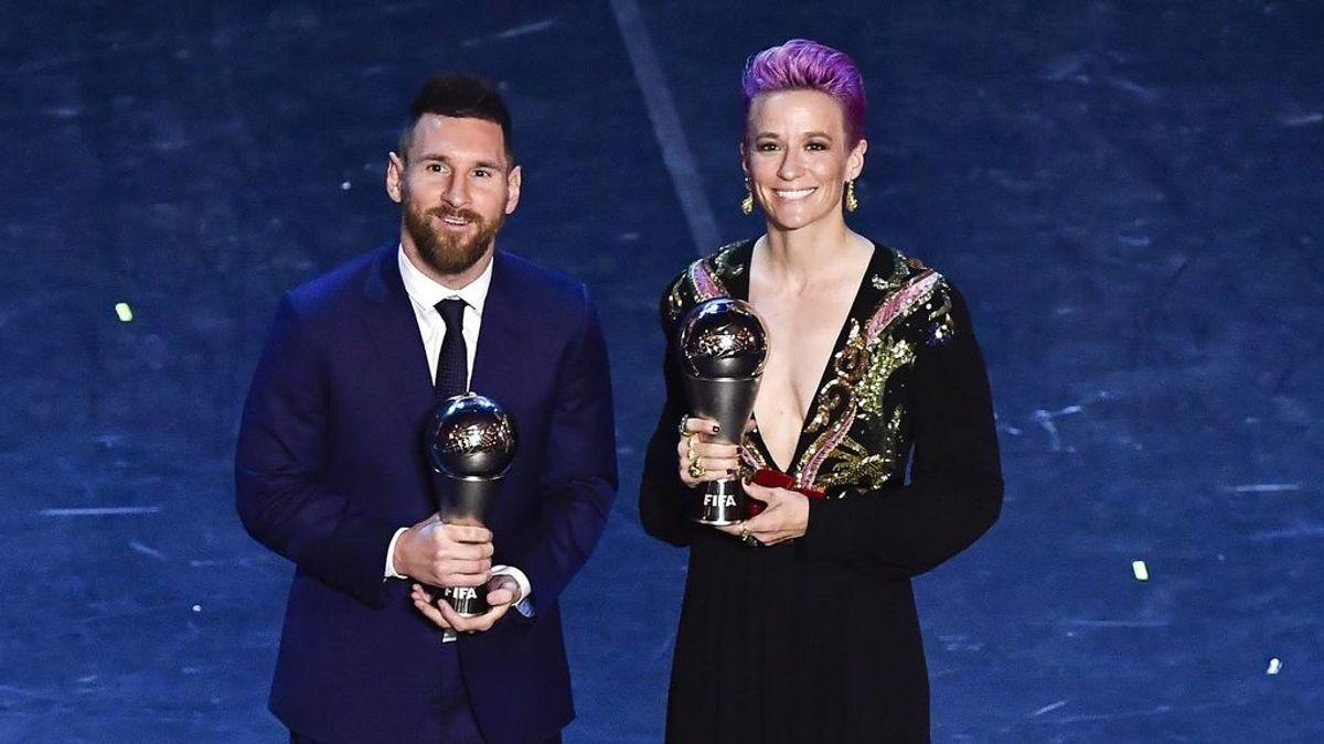 """""""Messinoe funciona"""", Megan Rapinoe presume de conexión con Leo Messi tras la gala del 'The Best'"""