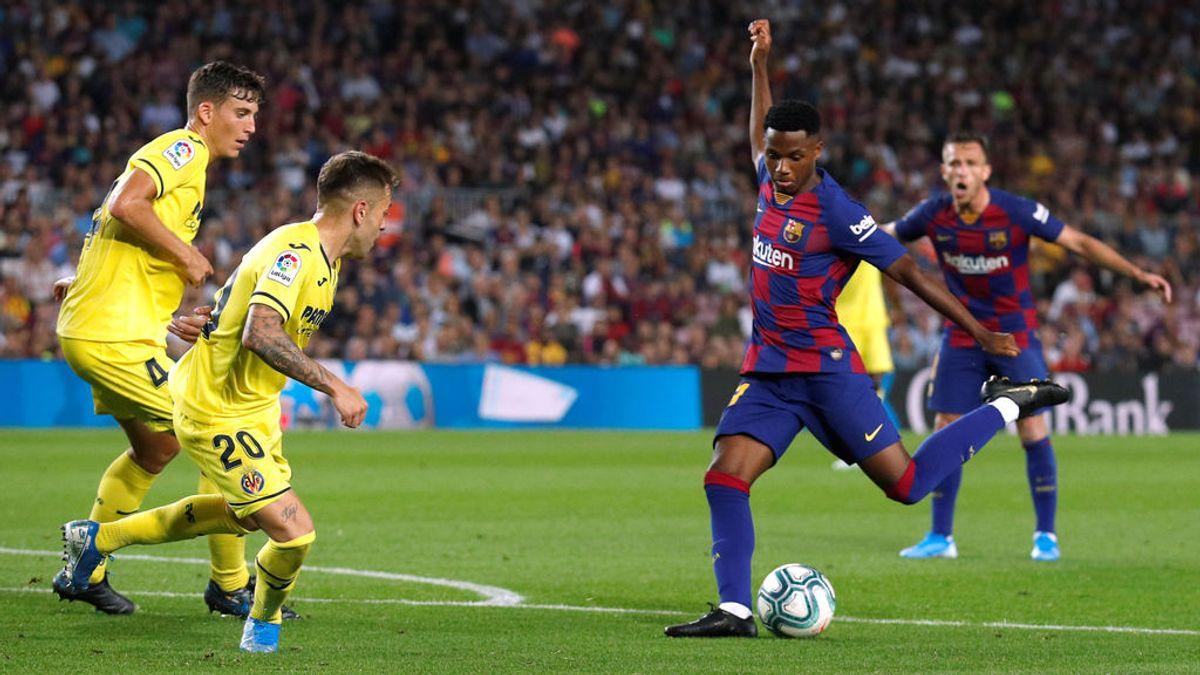 El Camp Nou ovaciona a Ansu Fati y responde con una exhibición a sus 16 años