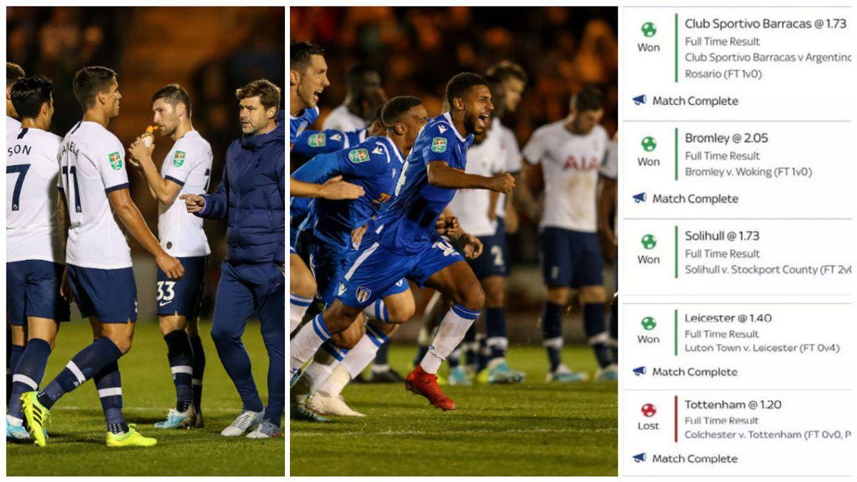 Un hombre pierde 15.000 euros tras la derrota del Tottenham ante un equipo de cuarta división