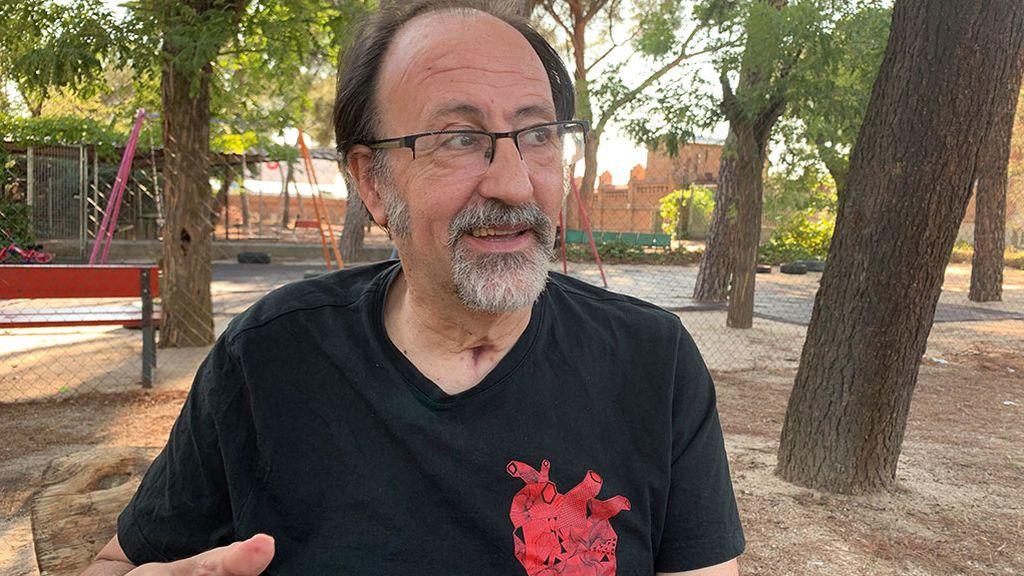 Luis Miguel Domínguez en la rehabilitación tras el ictus