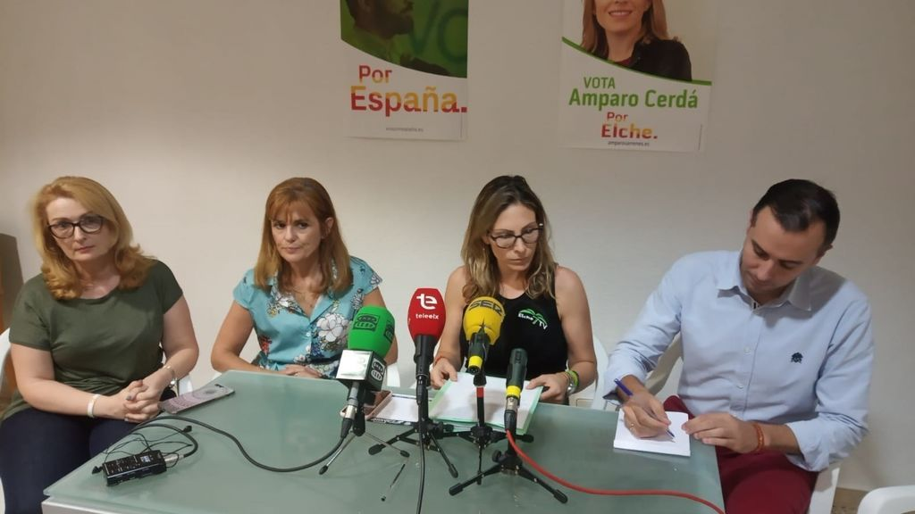 Amparo Cerdá, portavoz de Vox en Elche