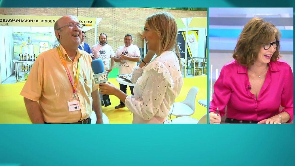 """El entrevistad come carne mechada y Ana Rosa le dice que se ha hecho un """"fraga saliendo de Palomares"""""""