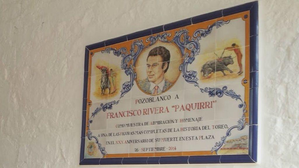 Recuerdo a Paquirri en el interior de la Plaza de Pozoblanco.