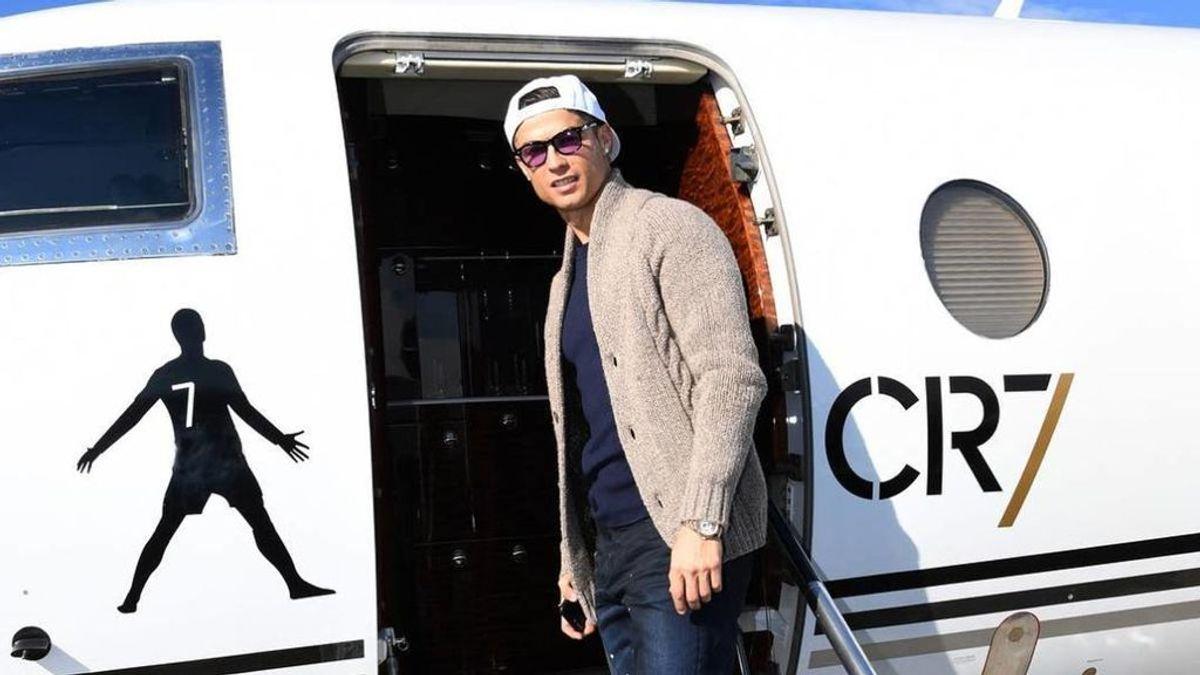 Cristiano Ronaldo alquila su jet privado en Madrid por un precio de 8.000€ la hora
