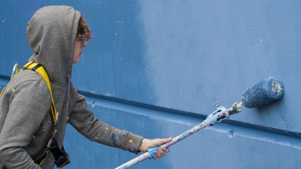 Lidia Cao es una muralista prometedora que ha nacido en Ordes