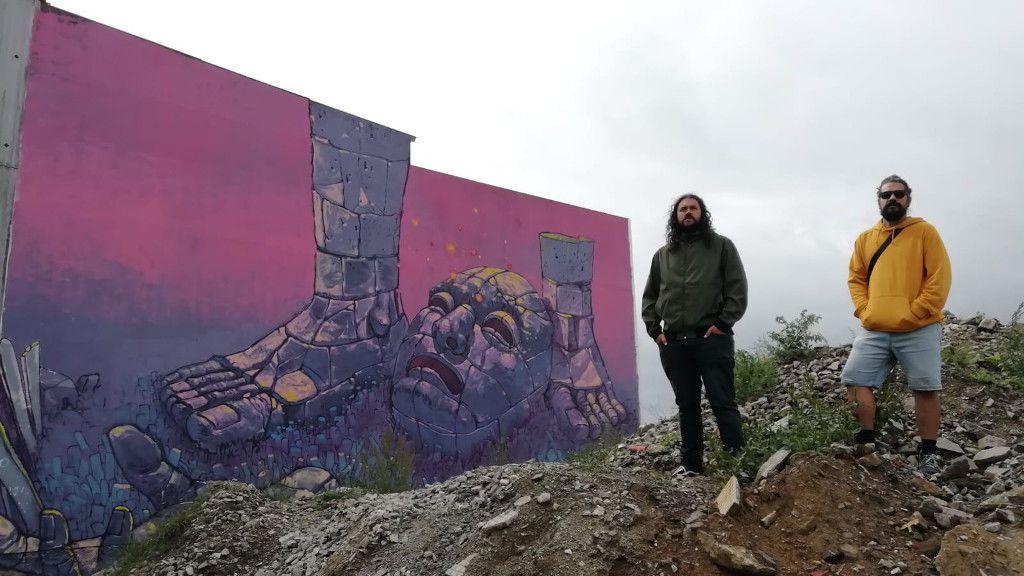 Sokram y Mou han conseguido traer a Ordes a artistas urbanos de primer nivel