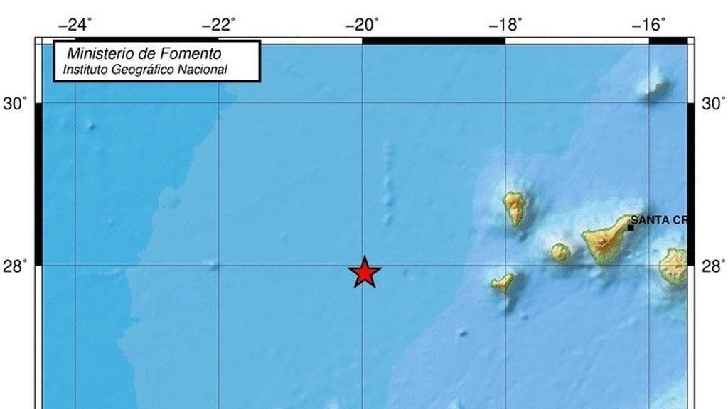 Terremoto de magnitud  5.7 al oeste de El Hierro