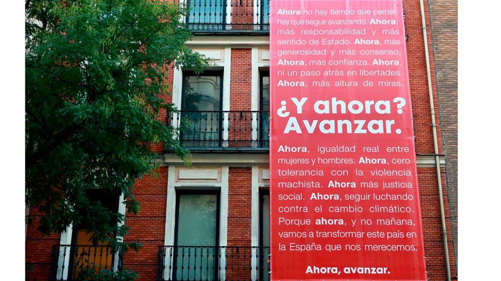 """Del """"Haz que pase"""" al  """"¿ Y ahora ? Avanzar"""". El PSOE cuelga su lema de precampaña"""