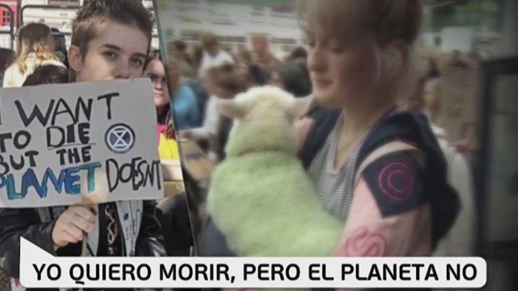 Pancartas contra el cambio climático